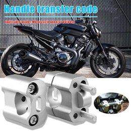morsetti per motocicli Sconti 1 1/8 CNC di alluminio del manubrio del motociclo Riser 28 millimetri maniglia Bar morsetti universali Conveninently e semplicità di installazione