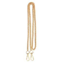 120cm Metal Straps For Bags Shoulder Handbag Chains Belt Hardware For Handbag Chain Strap Replacement Bag Accessories Parts GOLD от Поставщики кольцевое кольцо из нержавеющей стали