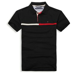 Polos de color sólido online-Poloshirt 2019 polo sólido de los hombres polos de lujo camisas de manga corta de los hombres básicos básicos de algodón polos para niños Marcas diseño Polo Homme