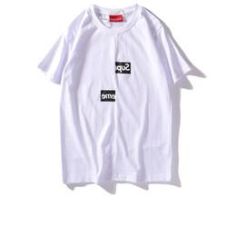2019 homens tendência tendência verão t Suprême T shirts carta impressão T-shirt Misplaced caixa logotipo homens mulheres casal curto-luva dos homens tendência da moda T camisas de verão quente vender tees homens tendência tendência verão t barato