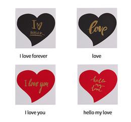 Cartão de dobramento novo on-line-2019 New Bronzing Greeting Cards Pequeno Dobrável Forma Do Coração Adorável Cartão Do Convite para o Aniversário Dia Dos Namorados