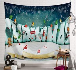 Pano de pintura de árvore on-line-Murais de exportação quente pendurado pano série de Natal Tapeçaria árvore de Natal lareira pintura da arte pano decorativo 150x130 cm