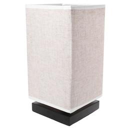 Lampe de table de chevet en tissu avec base en bois massif, veilleuse minimaliste ? partir de fabricateur