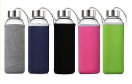 Venta al por mayor caliente 550 ml Té Infusor Tazas de viaje Drinkware Botella de vidrio portátil para agua té vidrio botella de bebida desde fabricantes