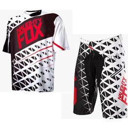 mtb gears Promo Codes - NEW 2018 NAUGHTY FOX Shorts and jersey Summer Men Motocross Gear Bicycle Mountain Bike Off-road MTB MX ATV DH Cycling Suit Combo