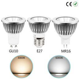 2019 светодиодный индикатор mr16 12v 3w Горячая GU10 / E27 / MR16 LED COB прожектор затемнения 3 Вт 5 Вт 7 Вт пятно света лампы высокой мощности лампы 220 В 110 В 12 В дешево светодиодный индикатор mr16 12v 3w