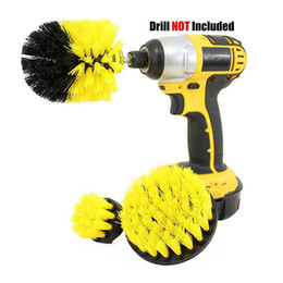 spazzole per pulizia auto Sconti Power Scrubber Brush Drill Brush Clean per superfici da bagno Car Boat RV Vasca doccia Tile Grout Cordless Power Scrubber Kit di pulizia