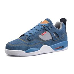 Zapatos de las zapatillas de deporte online-Zapatos de los hombres Pisos Resbalón en los zapatos casuales Zapatillas de deporte Hombre Lienzo Air Denim Plimsolls Alpargatas Calzado Hombre Zapatillas