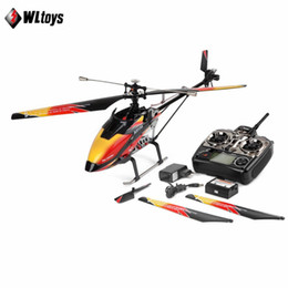Wltoys V913 RC Helicopter 2.4G 4CH Hoja Única Gyro Incorporado Super Estable de Vuelo de Alta Eficiencia Sin Escobillas Motor Drone Modelo desde fabricantes