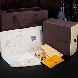 scatole di cartone per regali Sconti 2018 alta qualità cinture di marca scatola di imballaggio moda giallo rosso nero marrone scatola di cartone per cinture regalo scatola A-550