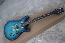 guitarras de 24 fret Desconto Nova Chegada Embutidos Pássaro Fretboard PRS Personalizado 24 fret Guitarra Elétrica Quilt Top Hardware de Ouro