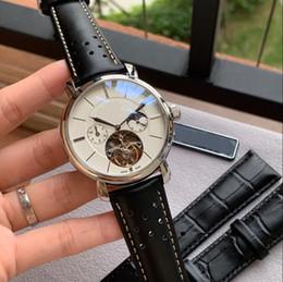 2019 nuovi orologi shanghai SHANGHAI movimento automatico meccanico PELLE SILVER 42 MM ASE moda uomo guarda all'ingrosso di lusso nuovi orologi da uomo in acciaio inossidabile nuovi orologi shanghai economici