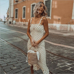Jupe à pois en Ligne-Nouveau Designer Dress Summer Slim Robes avec Polka Dot Marque De Mode Street Dress Femmes Jupe Vêtements De Haute Qualité 2019 Hot Top