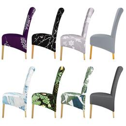 Sedie ufficio sedie online-XL Grandi Dimensioni coprisedie Spandex Fabric re posteriore con schienale alto per la cena Cucina sarchiatura decorativi Coprisedili