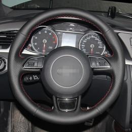 Ins hot style Крышка рулевого колеса Черный кожаный чехол на руль автомобиля Audi A1 A3 A5 A7 от