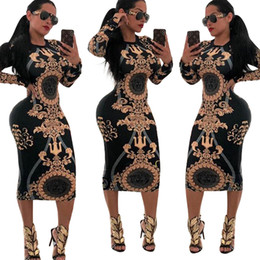 multi wear dresses Coupons - Women Sexy Dress Stretch Party Dresses Floral Print Skinny Club Wear Gorgeous Vestidos Maxi Bandage Bodycon Dress