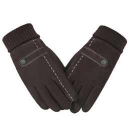 мужские перчатки с сенсорным экраном Скидка Touch Screen Mens Genuine Leather Gloves Mittens High Quality Pig Skin Male Winter Warm Windproof Outdoor Thermal Gloves 18Nov