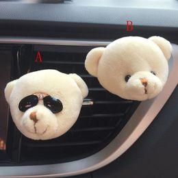 Diseño de cojinete de aire online-De calidad superior Nuevo diseño de coches Oso lindo divertido de salida del aire de Nueva fragante perfume ambientador de aire del difusor Clip sensación de kit de coche como regalos