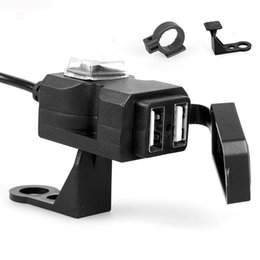 2019 repuestos yamaha 12 V Impermeable Puerto Dual USB Cargador de manillar de la motocicleta 1A / 2.1A Adaptador Socket de alimentación Universal USB Cargador de motocicleta