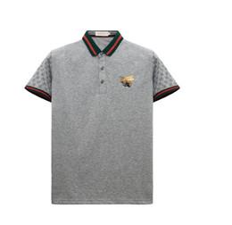 tissu de haute qualité pour t-shirt Promotion 2019 T-shirt à manches longues en coton à rayures polo brodé abeille de haute qualité