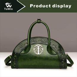 9ca81d1370d5 Женская сумка через плечо в китайском стиле Сумки для переноски Портативное  качество PU кожаная сумка Повседневная Бостон Сумки Кошелек Crossbody сумка  ...