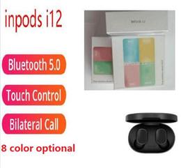 2019 mini auriculares bluetooth para mp3 inpods coloridos 12 inpods12 i12 Macaron de color inalámbrica Bluetooth para auriculares TWS pop-up ventana de auriculares táctiles auricular para todo el país: