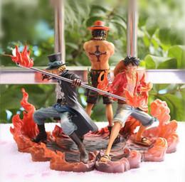 2019 einteilige heiße aktionsfigur Neue Heiße 3 teile / satz 14-17 cm One Piece Affe D Ruffy Ace Sabo Collectors Action Figure Spielzeug Weihnachten Spielzeug Y19062901 rabatt einteilige heiße aktionsfigur