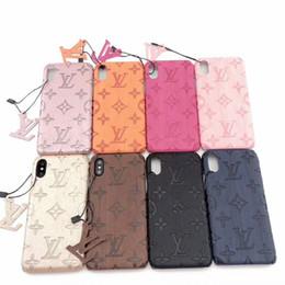 Оптовый дизайнер Iphone Чехол для IPhoneX / XS XR XSMAX IPhone7 / 8plus IPhone7 / 8 6 / 6s 6 / 6sP модные чехлы с фирменными буквами 8 стилей от