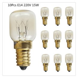 lampada alogena al tungsteno Sconti Lampadine da forno 10 pezzi 15W / 25W E14 220V 300 gradi resistente alle alte temperature forno a microonde progettazione lampadina di illuminazione