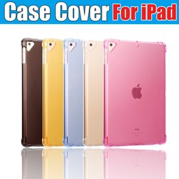 2019 nouveaux étuis arrière Nouvel iPad 2019 Crystal Clear Silicon Case Transparent TPU Coque de protection souple pour iPad pro 9.7 air 3 4 nouveaux étuis arrière pas cher