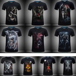 cbd4b9d4a Men T Shirts Fashion Design Short Sleeve Casual Tops Skull Rock Metal Death  Steam Punk Reaper Dragon 3D Printed T-Shirt Cool Tee dragon skull t shirts  ...