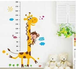 2020 sticker mural pour enfants Enfants Toise Wall Sticker Home Decor Cartoon girafe Hauteur Ruler Décoration Chambre Stickers muraux Art Sticker Wallpaper promotion sticker mural pour enfants