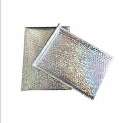 Sacolas de mala escola on-line-Tamanho Grande Laser prata Mailing Envelope Courier saco plástico de bolhas Mailers envelopes acolchoados embalagem de transporte Bag 23 * 30 cm