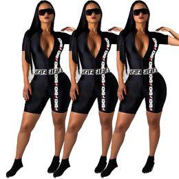 Combi-pantalon en Ligne-femmes manches courtes barboteuses de concepteur combinaisons sexy slim combi mode mode nuit confortable porter élégante combinaison