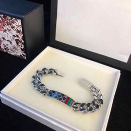 pulseiras luxuosas Desconto Pulseiras de cadeia de luxo para homens titanium aço g pulseira designer de moda jóias de prata amante presente comprimento 22 cm (sem caixa)