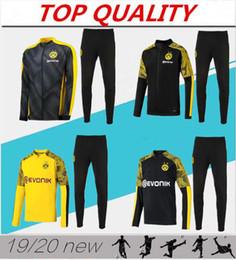 calcio sportivo giacca Sconti 2019 2020 Borussia Dortmund tuta da allenamento tuta da calcio tuta 19 20 Survetement REUS M.GOTZE abbigliamento sportivo kit giacca da calcio
