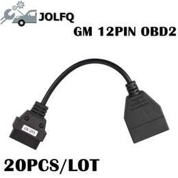 gm cable Promo Codes - Promotion Price!!!20PCS LOT For GM OBD OBD2 Connector for GM 12 Pin Adapter to 16Pin Diagnostic Cable with high quality