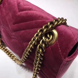 bolsas de veludo Desconto gucci 2018 NOVO CHEGADA bolsas de luxo mulheres sacos de designer pequeno mensageiro Sacos de veludo feminina bolsa de veludo menina