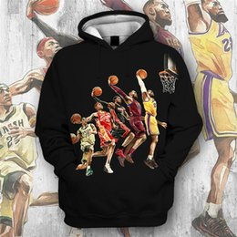 characters print sweatshirt Coupons - 2019 Hot New Sweatshirt Customize Basketball Character 3D Printing Hoodies Hooded Pullovers Tops Men's Clothing Drop Shipping