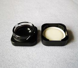 2020 dab cera jarra contenedor Nueva llegada Cubo tarro de cristal 5 ml Concentrado de cristal premium tarros contenedor de aceite Dab Cera tarro de cristal cuadrado del cubo de envío gratuito GCJ01 dab cera jarra contenedor baratos