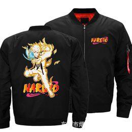 2020 cosplay naruto zeichen Naruto Uzumaki Bomberjacke Charakter Printed Baseball-Mantel Windbreaker Zipper Sweatshirt Sport Top Cosplay rabatt cosplay naruto zeichen