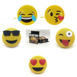 2019 пластиковые игрушки Мини Emoji громкоговоритель эмоции Беспроводной Bluetooth управления Портативный звук с подставкой талреп динамик домашнего декора партия пользу FFA1341