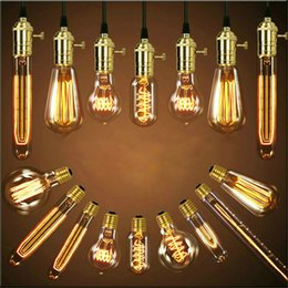 2019 ampoule edison t45 Rétro Edison Ampoule E27 220V 40W ST64 A19 T10 T45 T185 G80 G95 ampoule Vintage ampoule à incandescence lampe Edison ampoule edison t45 pas cher