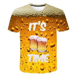 70311a6ca54 2019 Newest beer 3D Print T Shirt beverage Cool Funny T-Shirt Men Short  Sleeve Summer Tops Tshirt Male Fashion T-shirt male 4XL