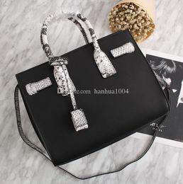 2019 bolsos de cuero negro marcas de renombre 2018 nuevo estilo de la marca de moda de alta calidad de las mujeres de cuero genuino bolso de cuero negro serpentina Sac De Jour bolsa de hombro bolsos de cuero negro marcas de renombre baratos