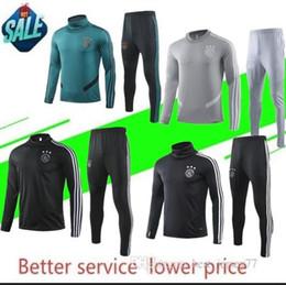 camisas de futebol verde em branco Desconto 2019/20 novo fato de treino Ajax 2019 2020 Fato de treino Ajax VAN DE BEEK DOLBERG Fato de treino Kluivert ajax uniforme de futebol Tamanho S-XL