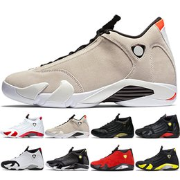 shoes 14 running Promo Codes - 14s Basketball Shoes 14 Men 2019 Candy Cane Desert Sand DMP The Last Shot Thunder Indiglo Black Toe Trainer Sport Sneakers