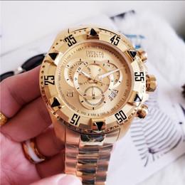 f529faa216f Marca cosc suíço INVICTA LOGOTIPO muito grande discagem rotativa super  qualidade dos homens relógio de marca de luxo de aço de tungstênio  multifunções ...
