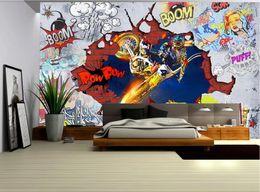 paredes de papel tapiz fresco Rebajas 3D wallpaper de la habitación personalizado foto mural Cool motor art graffiti wall home decor arte de la pared fotos wallpaper para paredes 3 d