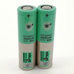 cajas de energía solar Rebajas 100% de calidad superior 18650 Batería 3500 mAh 3.7 V 20A 18650 Baterías Baterías de litio recargables Fedex UPS envío gratis